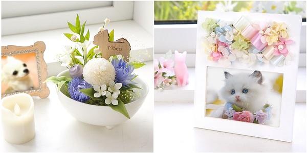 ペット用プリザーブドフラワーの仏花